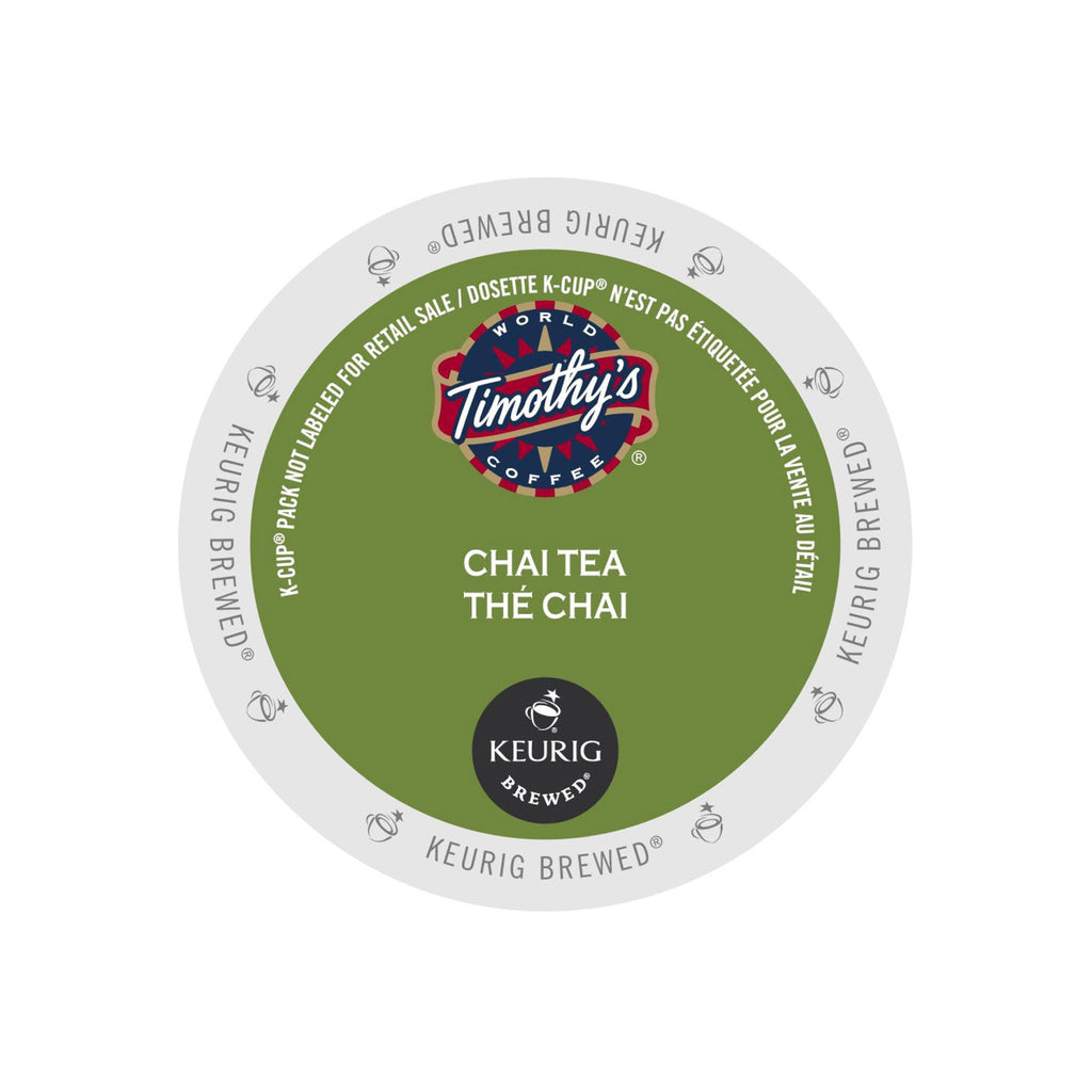 Timothy's Chai Tea K-Cup® Pods (Case of 96)