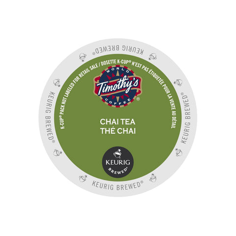 Timothy's Chai Tea K-Cup® Pods (Box of 24)