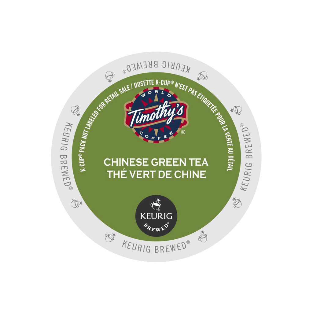 Timothy's Chinese Green Tea K-Cup® Pods (Case of 96)