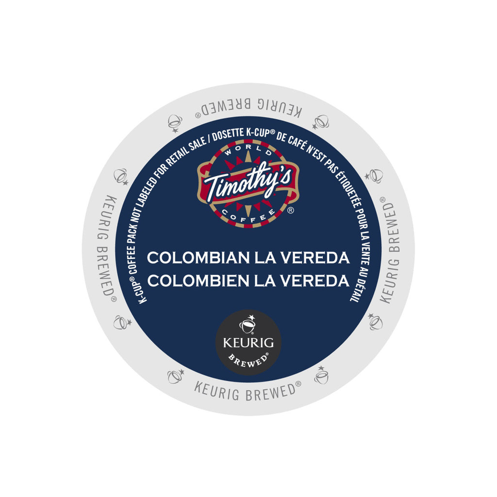 Timothy's Colombian La Vereda K-Cup® Pods (Case of 96)