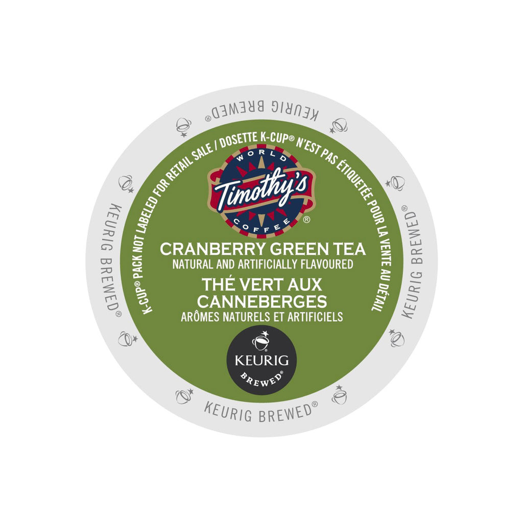Timothy's Cranberry Green Tea K-Cup® Pods (Case of 96)