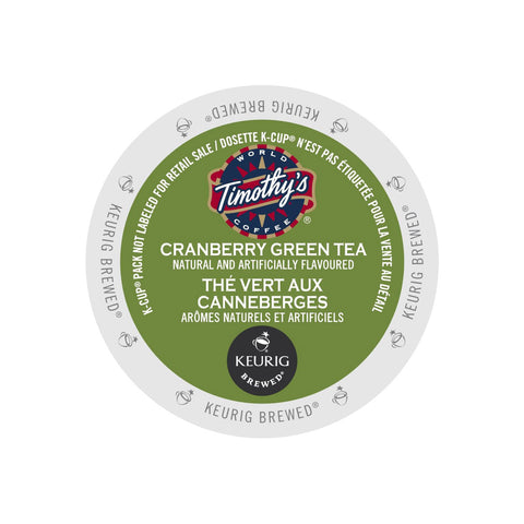 Timothy's Cranberry Green Tea K-Cup® Pods
