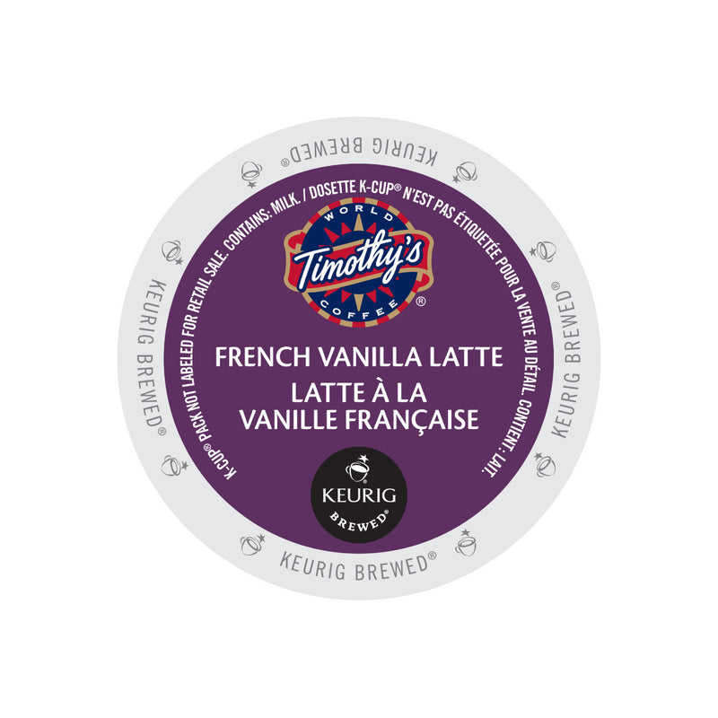 Timothy's Indulgence French Vanilla Latte K-Cup® Pod