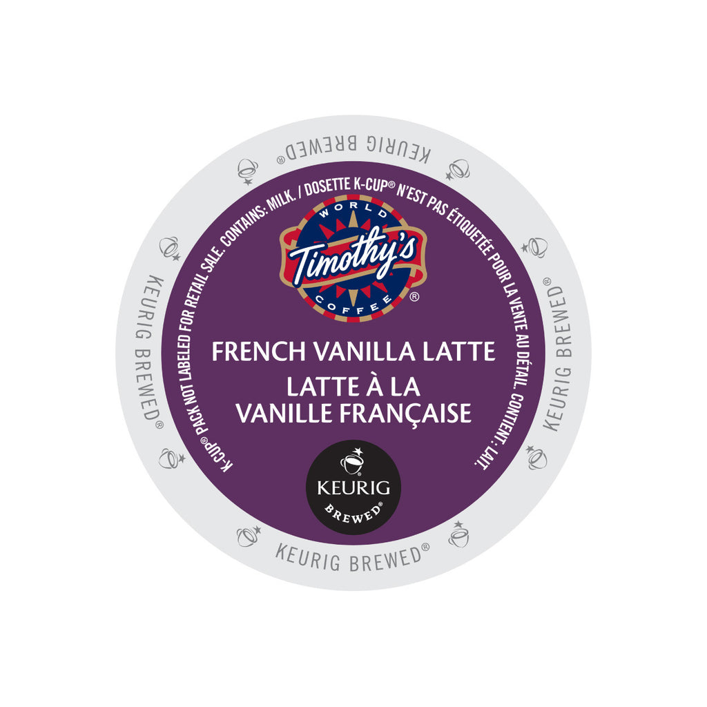 Timothy's Indulgence French Vanilla Latte K-Cup® Pods (Box of 24)
