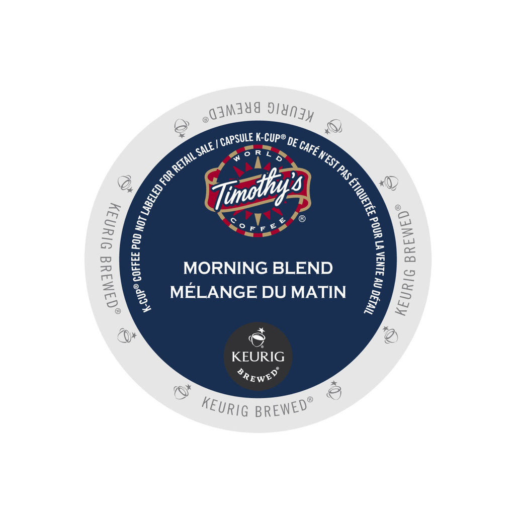 Timothy's Morning Blend K-Cup® Pods (Case of 96)