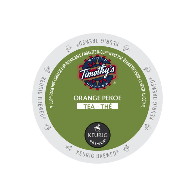 Timothy's Orange Pekoe Tea K-Cup® Recyclable Pods (Case of 96)