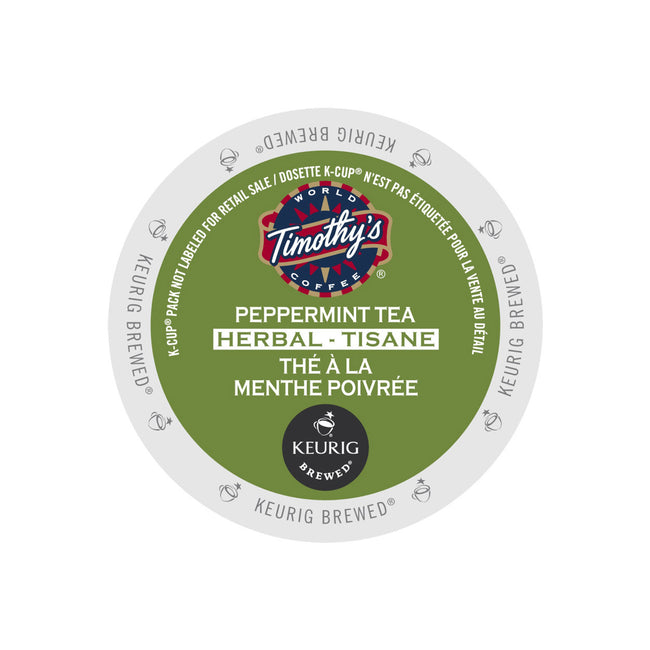 Timothy's Peppermint Tea K-Cup® Pods (Case of 96)