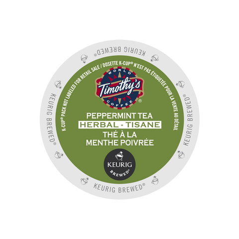 Timothy's Peppermint Tea K-Cup® Pods (Box of 24)