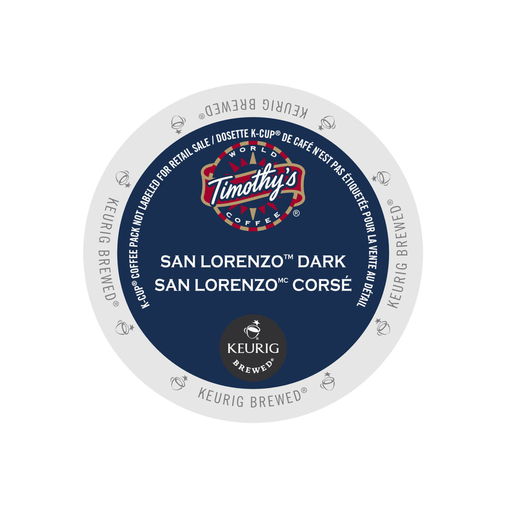 Timothy's San Lorenzo K-Cup® Pods (Case of 96)