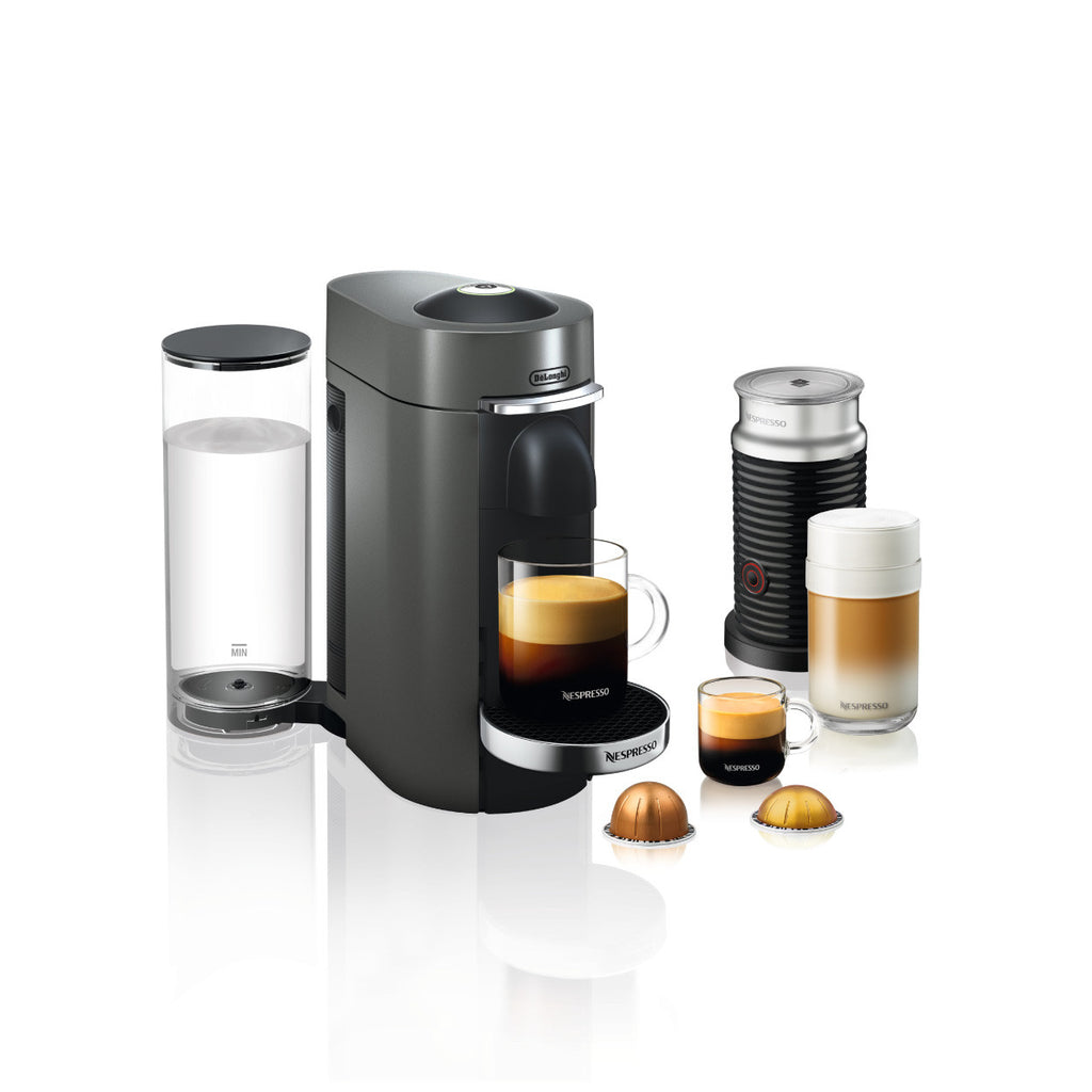 Nespresso by DeLonghi VertuoPlus Deluxe With Aeroccino 3 in Titan