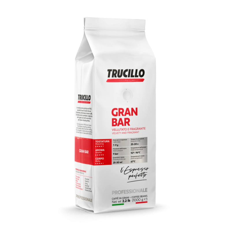 Trucillo Gran Bar Espresso (1kg / 2.2lbs Bag of Whole Bean Coffee)