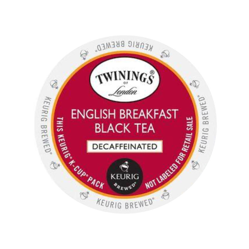 Twinings Tea English Breakfast Decaf K-Cup® Pods (Box of 24)