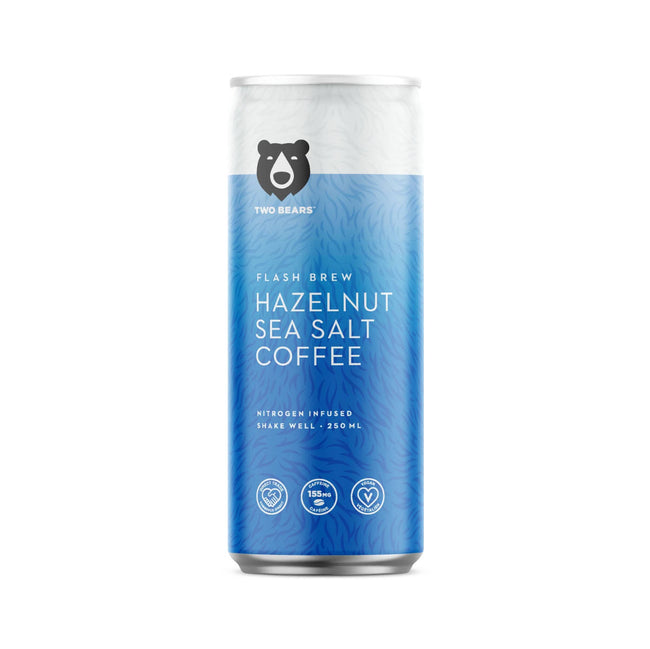 Two Bears Flash Brew Hazelnut Sea Salt (Case of 6 Cold Brew Cans)