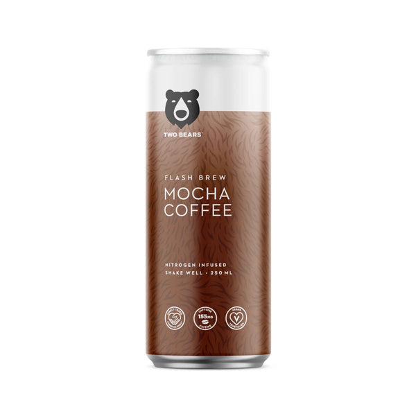 Two Bears Flash Brew Mocha Coffee (Case of 6 Cold Brew Cans)