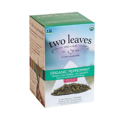 Two Leaves & A Bud Organic Peppermint Tea (Box of 15)