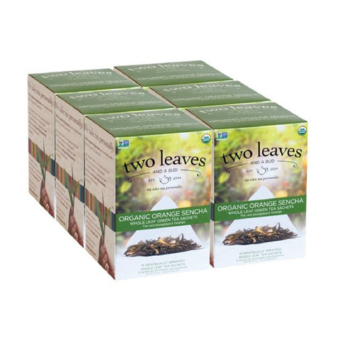 Two Leaves & A Bud Organic Orange Sencha Green Tea (Case of 90)