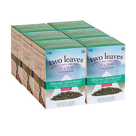 Two Leaves & A Bud Organic Peppermint Tea (Case of 90)