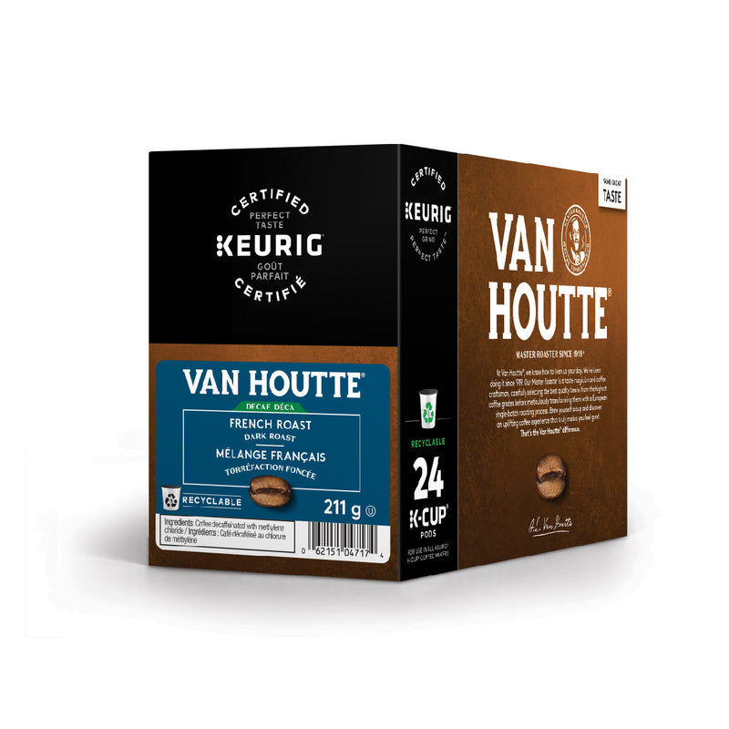 Van Houtte Decaf. French Roast K-Cup® Recyclable Pods (Box of 24)