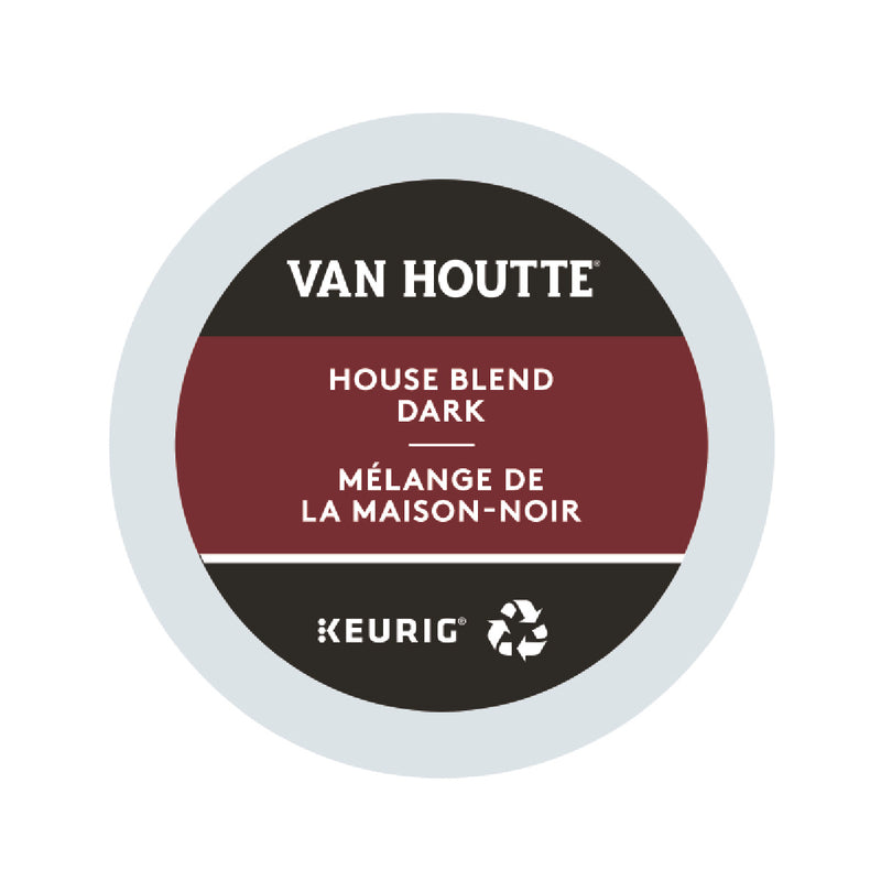 Van Houtte House Blend Dark K-Cup® Recyclable Pods (Box of 24)