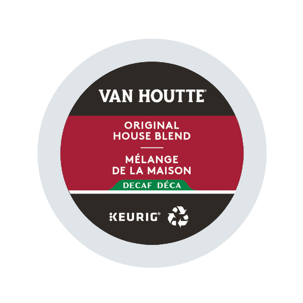 Van Houtte Decaf Original House Blend K-Cup® Recyclable Pods (Box of 24)