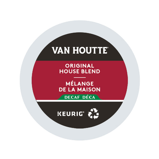 Van Houtte Decaf Original House Blend K-Cup® Recyclable Pods (Case of 96)