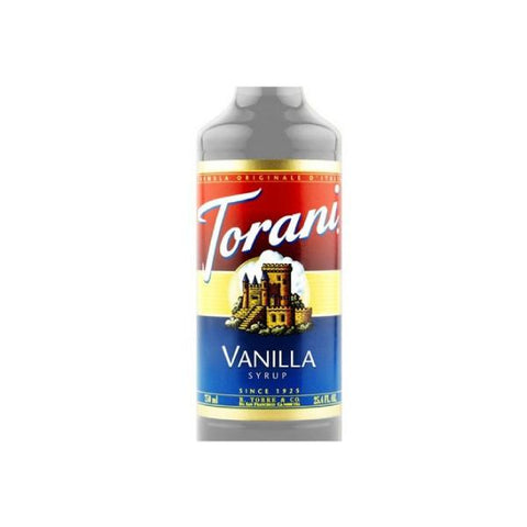 Torani Vanilla Syrup (Case of 12 x 750mL Bottles)