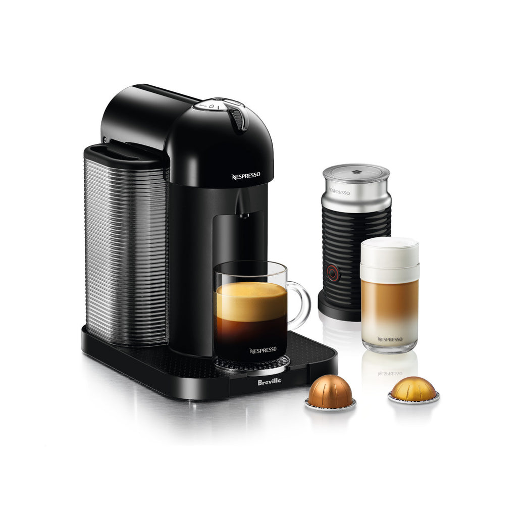 Nespresso by Breville Vertuo Brewer Bundle with Aeroccino 3 in Black