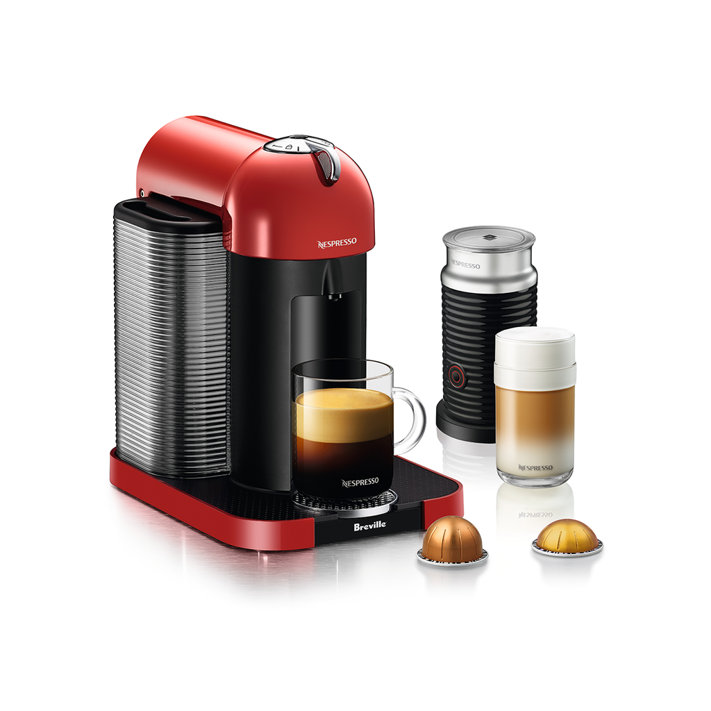 Nespresso by Breville Vertuo Brewer Bundle with Aeroccino 3 in Red