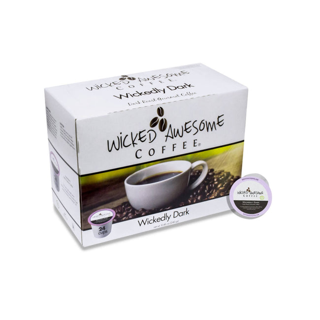 Wicked Awesome's Dark Single-Serve Coffee Pods (Case of 96)