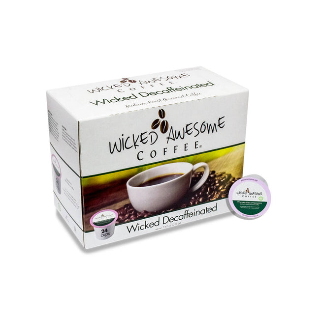 Wicked Awesome's Decaffeinated Single-Serve Coffee Pods (Box of 24)