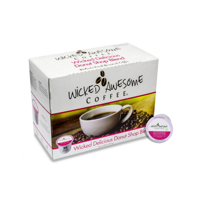 Wicked Awesome's Delicious Donut Shop Single-Serve Coffee Pods (Case of 96)