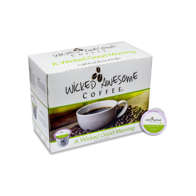 Wicked Awesome's Good Morning Single-Serve Coffee Pods (Case of 96)