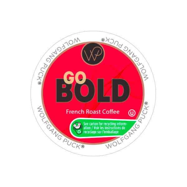 Wolfgang Puck Go Bold Single Serve Coffee Pods (Case of 96)