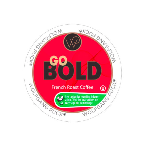 Wolfgang Puck Go Bold Single Serve Coffee Pods (Box of 24)