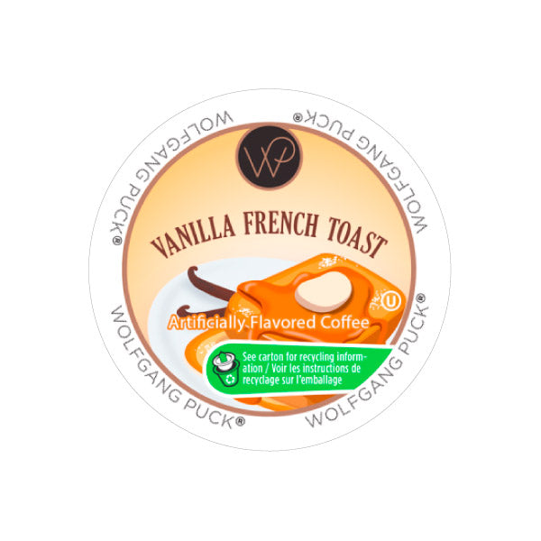 Wolfgang Puck Vanilla French Toast Single Serve Coffee Pods (Box of 24)