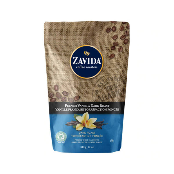 Zavida French Vanilla Dark Roast Whole Bean Coffee (12 oz.)