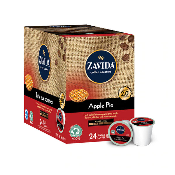 Zavida Apple Pie Single-Serve Coffee Pods (Box of 24)