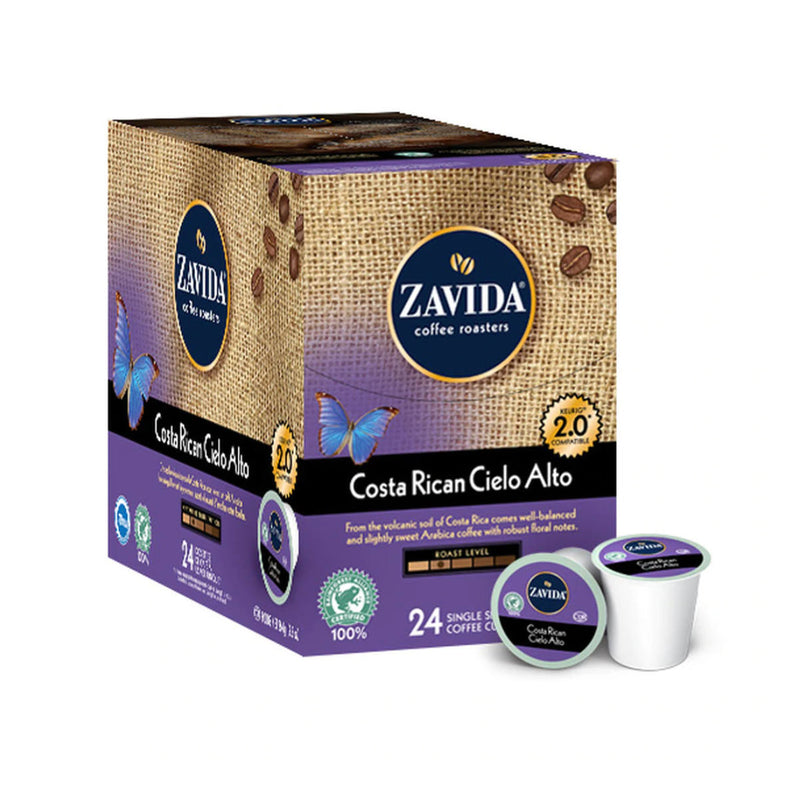 Zavida Costa Rican Cielo Alto Single-Serve Coffee Pods (Case of 96)