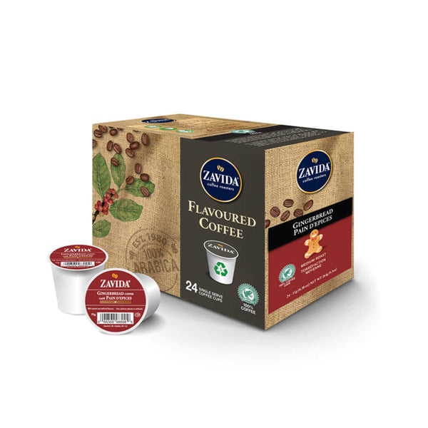 Zavida Gingerbread Single-Serve Coffee Pods (Box of 24)