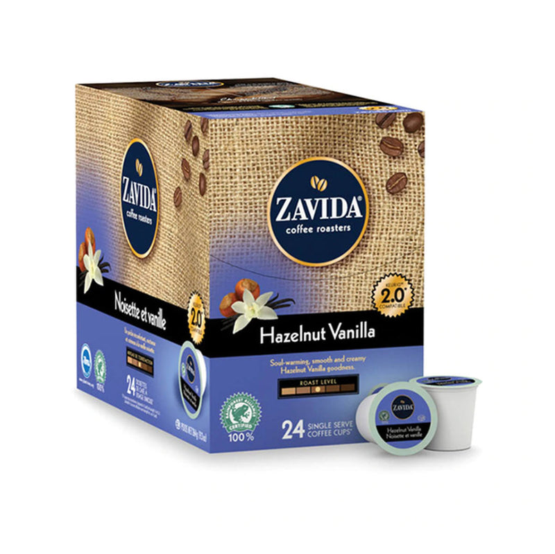 Zavida Hazelnut Vanilla Single-Serve Coffee Pods (Box of 24)
