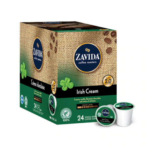 Zavida Irish Cream Single-Serve Coffee Pods (Case of 96)