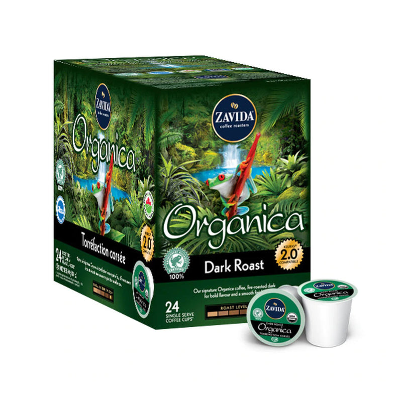Zavida Organica Dark Single-Serve Coffee Pods (Box of 24)
