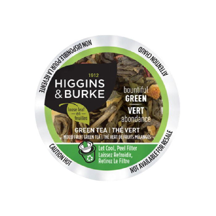 Higgins & Burke™ Bountiful Green Tea Single Serve Pods (Case of 96)
