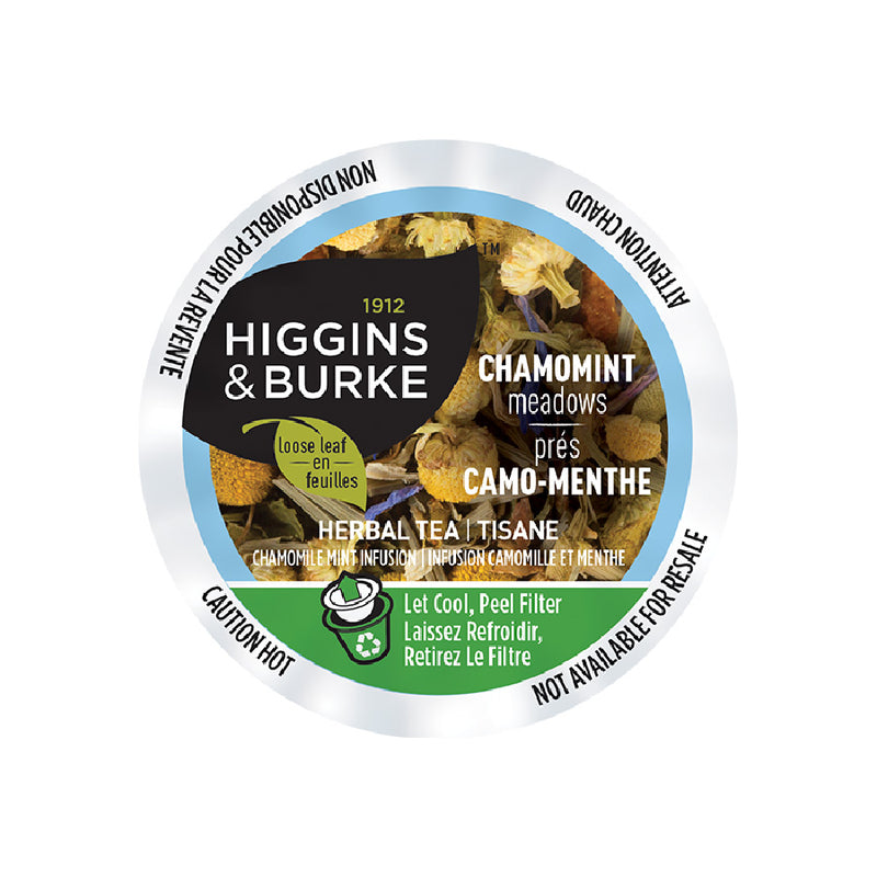 Higgins & Burke™ Chamomint Meadows Tea (Chamomile Mint) Single Serve Pods (Case of 96)