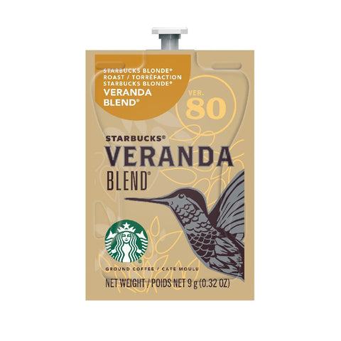 Flavia Starbucks Veranda Blend Light Roast Coffee Freshpacks (Case of 80)
