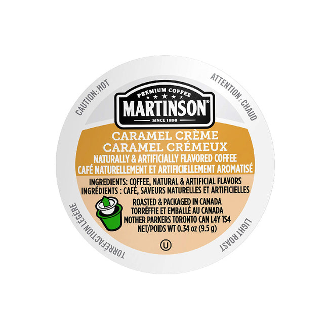 Martinson Coffee Caramel Créme Single Serve Pods (Box of 24)