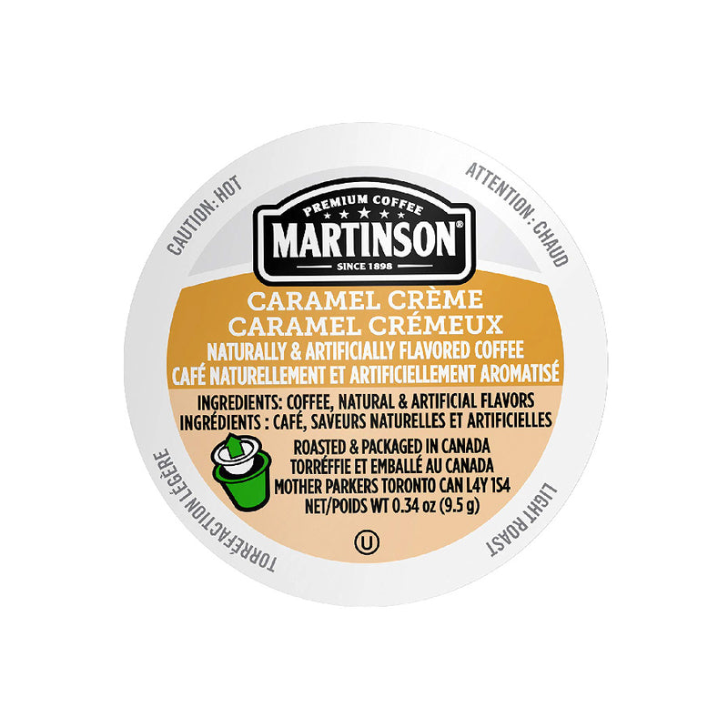 Martinson Coffee Caramel Creme Single Serve Pods (Box of 24)