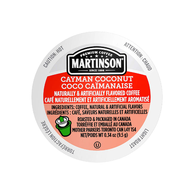 Martinson Coffee Cayman Coconut Single Serve Pods (Case of 96)