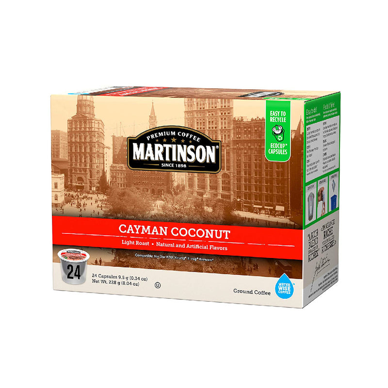 Martinson Coffee Cayman Coconut Single Serve Pods (Box of 24)