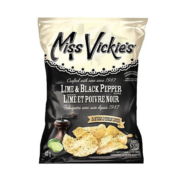 Bulk Miss Vickie's Lime & Black Pepper Chips (Box of 40 Bags)